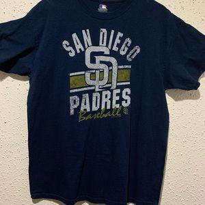 Navy Blue San Diego Padres Baseball T-Shirt